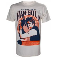 Star Wars Vintage Han Solo 'I'm In It For the Money' Rock Poster Large T-Shirt