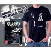 Call Of Duty Ghosts Game & Do Your Duty Black T-Shirt Large