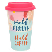 Half Human, Half Coffee Travel Mug