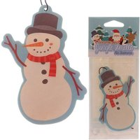 Snowman Shaped Cinnamon Scented (Pack Of 6) Christmas Air Freshener