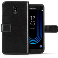Samsung Galaxy J5 (2017) Real Leather ID Wallet - Black