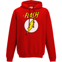 The Flash - Logo And Symbol Men's X-Large Hooded Sweatshirt - Red
