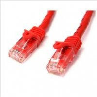 StarTech Red Gigabit Snagless RJ45 UTP Cat6 Patch Cable Patch Cord 1m
