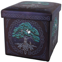 Tree of Life Storage Stool by Lisa Parker