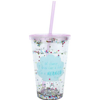 Of Course I drink like a Fish...Sequin Drinking Cup with Water Pack Of 4