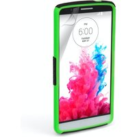 YouSave Accessories LG G3 Mesh Combo Case - Green-Black