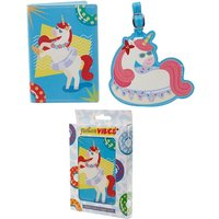 Holiday Unicorn Passport Holder and Luggage Tag Set