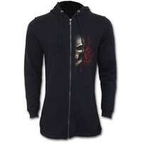 Game Over Fish Tail Zip Sleeves Men's Small Hoodie - Black