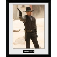 Westworld Man In Black Gun Framed Collector Print
