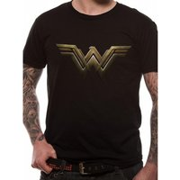 Wonder Woman Movie - Main Logo Men's Small T-Shirt - Black