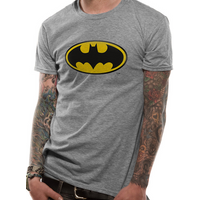 Batman - Logo Men's Large T-Shirt - Grey