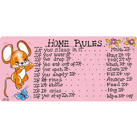 Home Rules Pack Of 12