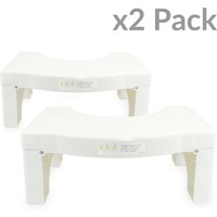 X2 Folding Squatting Toilet Stool   Medically Tested & Proven To Aid Bowel Movements   Non-Slip Bathroom Step Up Aid  ...