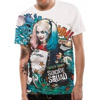 Suicide Squad - Graffiti Men's XX-Large T-Shirt - White