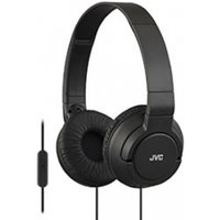JVC Lightweight Powerful Bass Headphones with Remote & Mic (Black)