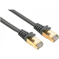 Hama CAT 5e Network Cable STP Gold-plated Shielded (Grey) 5m