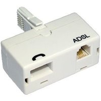 BT (M) to BT (F) and RJ11 (F) White OEM Direct Plug ADSL Micro Filter Adapter
