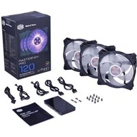 Cooler Master MasterFan Pro 120 Air Pressure RGB 3 in 1 with RGB LED Controller