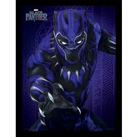 Black Panther - Glow Framed 30 x 40cm Print