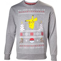 Pokemon Mens Dancing Pikachu Small Christmas Jumper