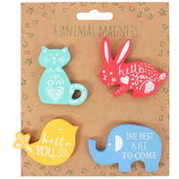 Set Of 4 Animal Magnets
