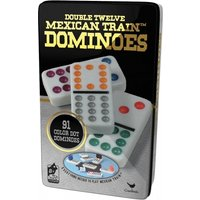 Ex-Display Classic Double Twelve Mexican Train Dominoes Board Game Used - Like New