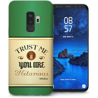 CASEFLEX SAMSUNG GALAXY S9 PLUS IRISH WHISKEY QUOTE - GREEN CASE / COVER (3D)