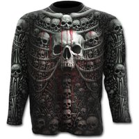 Death RibAllover Men's Large Long Sleeve T-Shirt - Black