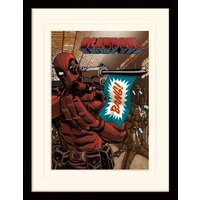 Deadpool - Bang Mounted & Framed 30 x 40cm Print