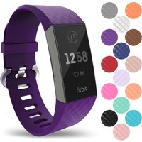 YouSave Activity Tracker Silicone Strap - Large (Plum)
