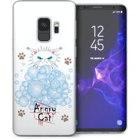 CASEFLEX SAMSUNG GALAXY S9 ANGRY CAT BUBBLES CASE / COVER (3D)