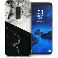 CASEFLEX SAMSUNG GALAXY S9 PLUS BLACK WHITE MARBLE SLICE CASE / COVER (3D)