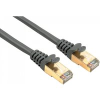 CAT 5e Network Cable STP Gold-plated Shielded Grey 1m