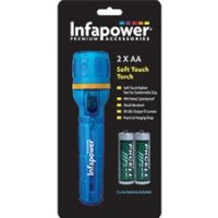 Infapower F020 2AA Splashproof Soft Touch Rubber Torch Blue