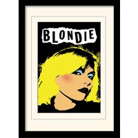Blondie - Punk Mounted & Framed 30 x 40cm Print