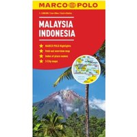 Malaysia, Indonesia Map by Marco Polo (Sheet map, folded, 2013)