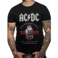 AC/DC - 82 British Tour Men's Small T-Shirt - Black