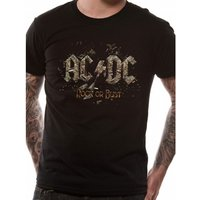 Ac/dc Rock Or Bust T-shirt Large - Black