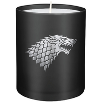 House Stark (Game of Thrones) Glass Candle 8 x 9 cm