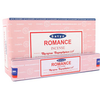 Box of 12 Packs of Romance Incense Sticks by Satya