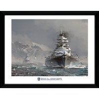 World of Warships Bismark Framed Collector Print