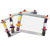 Set of 36 Worry doll mirrors