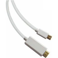 Sandberg Mini DisplayPort Male to HDMI Male Converter Cable, 1.5 Metres, 5 Year Warranty
