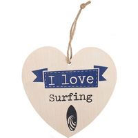 Love Surfing Hanging Heart Sign