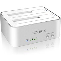 """IcyBox 2-Bay Docking and Clone Station for 2.5"""" 3.5"""" SATA HDD USB 3.0 (IB-120CL-U3)"""