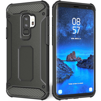 Samsung Galaxy S9 Plus Armoured Shockproof Carbon Case - Black