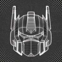 Transformers G1 - Optimus Prime Wireframe Canvas