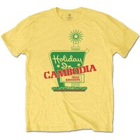 Dead Kennedys - Holiday in Cambodia Men's Large T-Shirt - Daisy Yellow