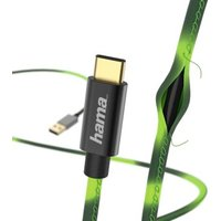 Hama Chameleon Charging/Data Cable, USB Type-C, 1.5 m, green