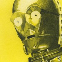 Star Wars - C-3PO Sketch Canvas